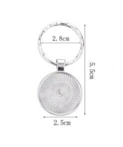 Stylish Scorpio Keychain Dimensions