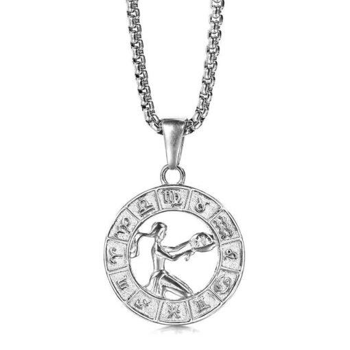 Virgo Silver Necklace