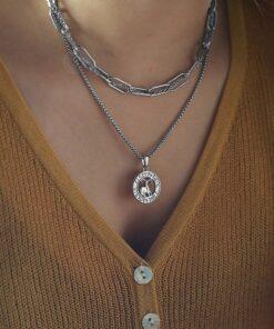 Women Silver Necklace Zodiac