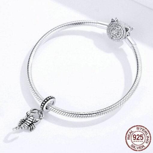 bracelet pendant silver scorpion