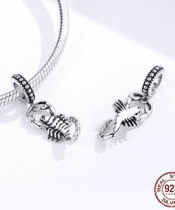 real sterling silver scorpion pendant
