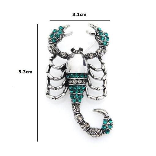 Brooch Scorpion Jewelry size