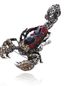Crystal Black Scorpion Brooch