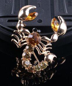 Diamante Scorpion Brooch