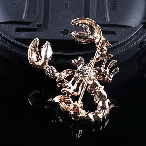 Diamante Scorpion Brooch Pin