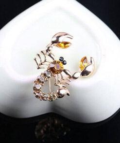 Diamante Scorpion Brooch Style