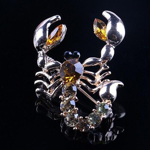 Diamante Scorpion Brooch Women