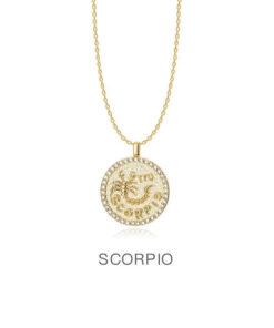 Diamond Scorpio Necklace