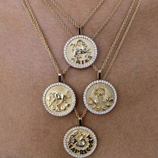 Diamond Scorpio Necklace Exemple