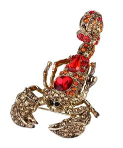 Full red Rhinestone Scorpion Brooch