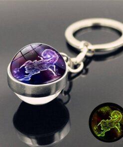Scorpio Astro Keyring Ball
