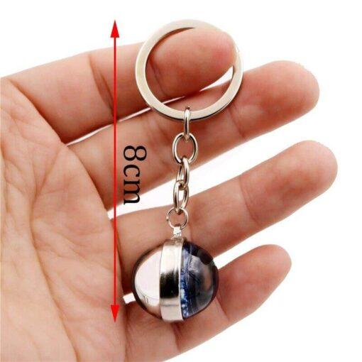 Scorpio Astro Keyring Ball size