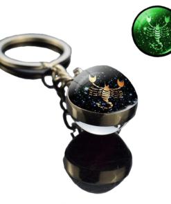 Scorpio Constellation Keyring Ball_