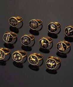 Scorpio Gold Ring 12 Astro Signs
