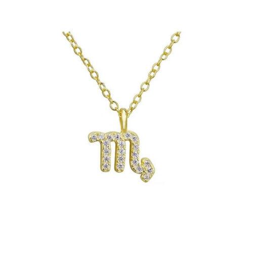 Scorpio Necklace Silver Gold color