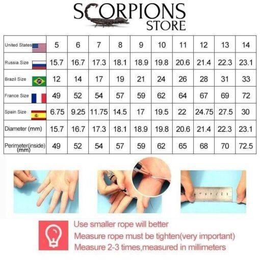Scorpio Ring for Men size