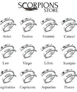 Scorpio Sign Ring Collection Zodiac