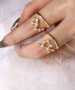 Scorpio Stone Ring Women Hand