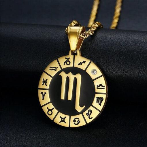 Scorpio Symbol Necklace Stainless Steel