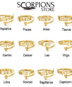 Scorpio Zodiac Ring Collection Gold Color