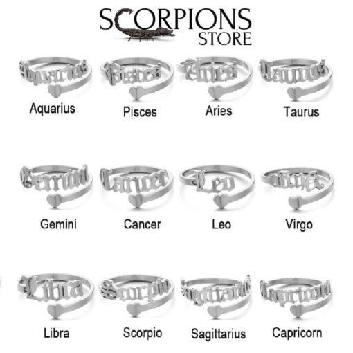 Scorpio Zodiac Ring collection