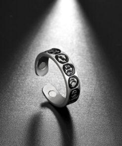Scorpio Zodiac Sign Ring Silver color