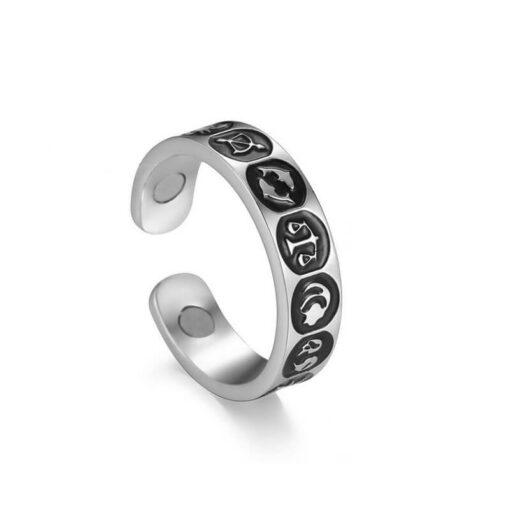 Scorpio Zodiac Sign Ring Silver color_