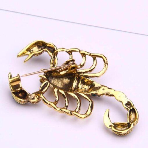 Scorpion Brooch Pin ZIrcon