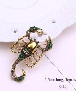 Scorpion Brooch size